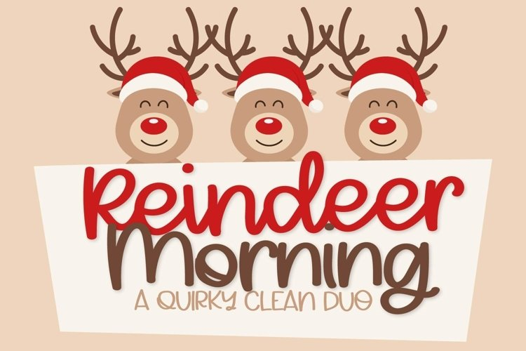 Web Font Reindeer Morning - A Font Duo example image 1