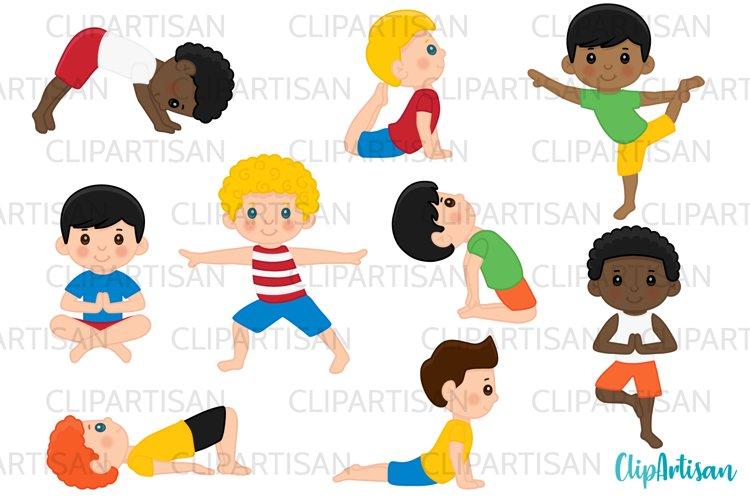 Yoga Clip Art, Yoga Poses Boys, Yoga Kids, Meditation example image 1