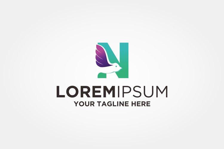 Letter N Bird Logo example image 1