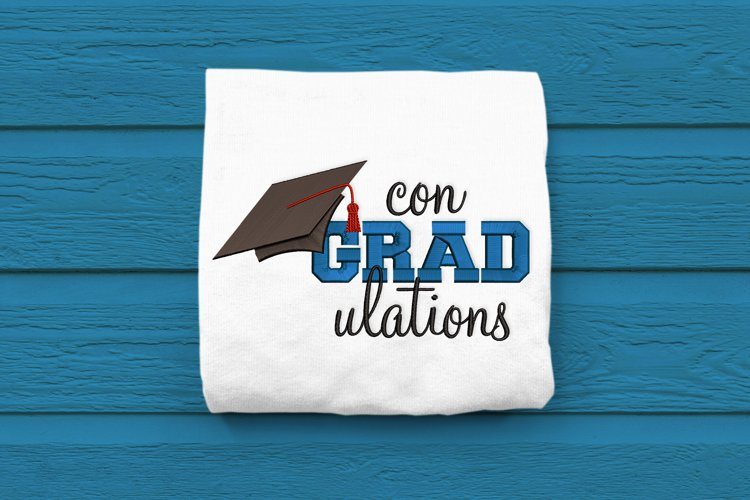 Con-GRAD-ulations Graduation Embroidery Design