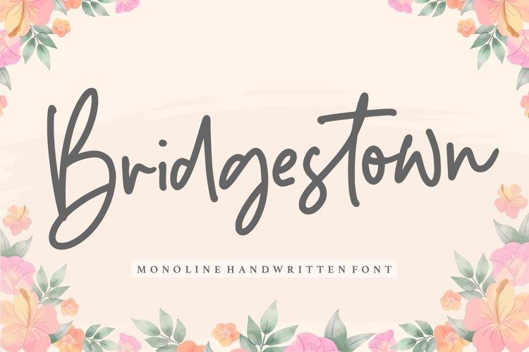 Bridgestown Monoline Handwritten Font example image 1