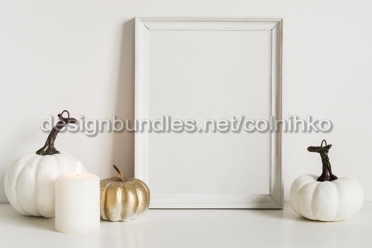 Mockup composition with photo frame example image 1