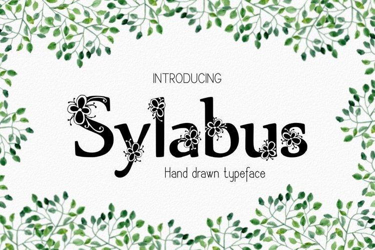 Sylabus font example image 1