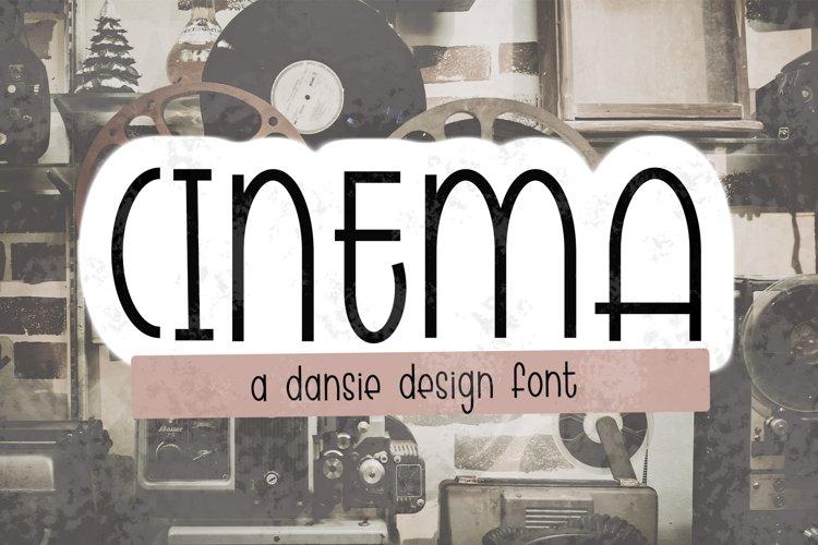 CINEMA font - regular outline - Crafter Font