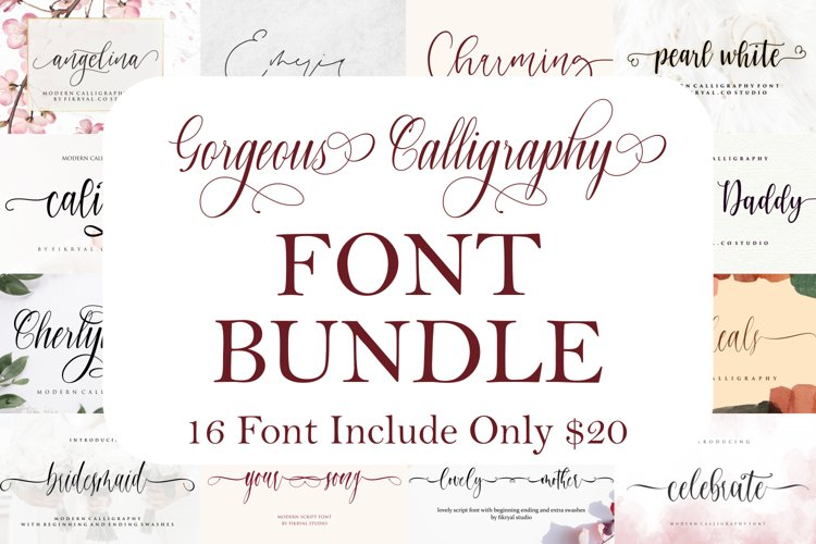 Gorgeous Calligraphy Font Bundle |Limited Time Offer!!! example image 1