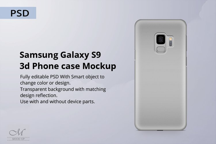 Samsung Galaxy S9 3d Phone Case Mockup example image 1