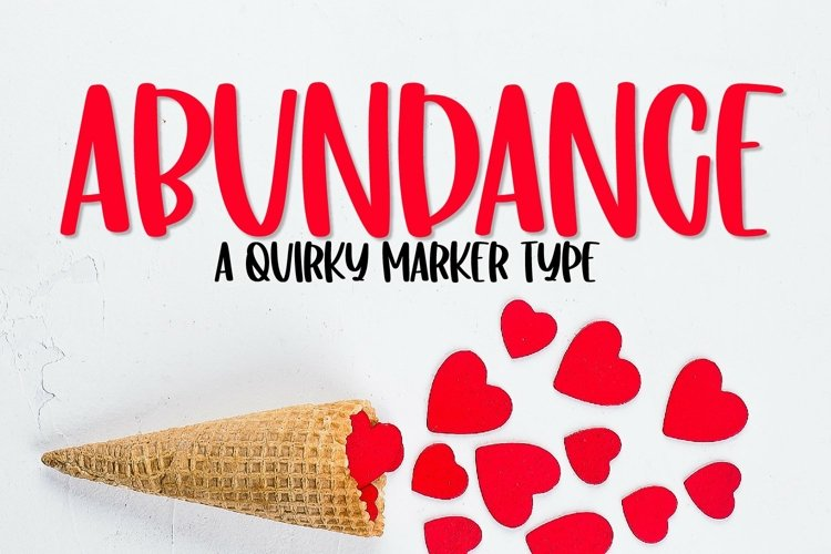 Web Font Abundance - A Quirky Clean Marker Type example image 1