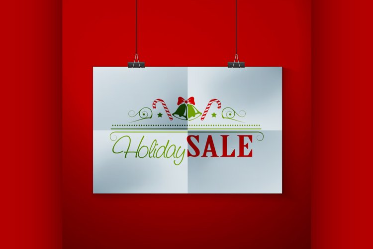 Frame On Wall With Christmas Label example image 1