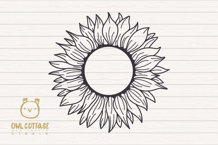 Sunflower Monograms svg, Sunflower mini bundle, Sunflower cl - Free Design of The Week Design4