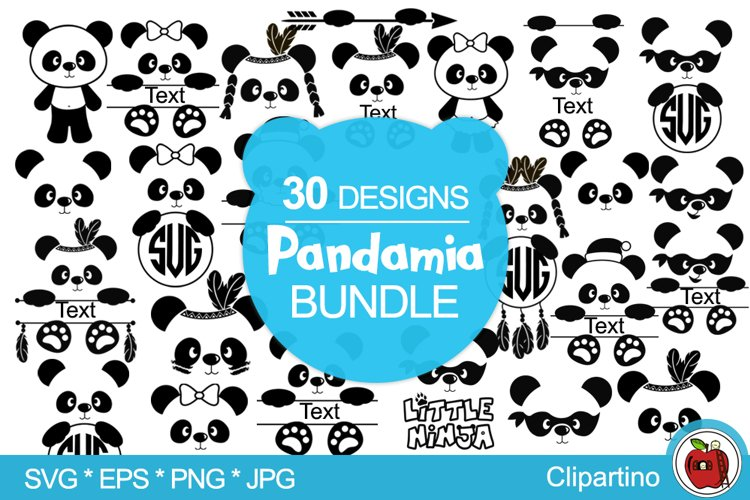 Panda Bundle SVG vector files