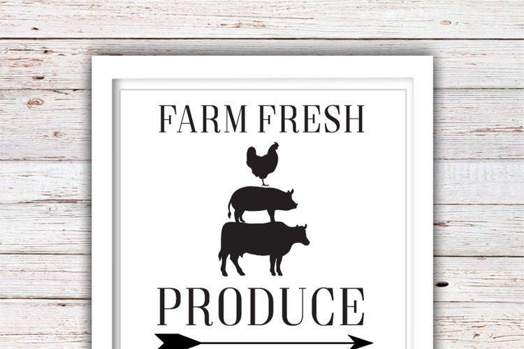 Farm Fresh Produce SVG   Farm Fresh SVG   Farmhouse   High Quality Svg Eps Dxf Png Files   Cricut Files Silhouette Cameo   Instant Download