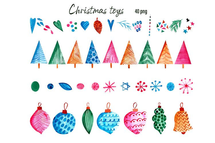 Christmas Toys & Ornaments Clipart example 2