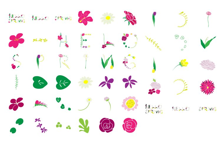 Hello Spring- Spring/ Flowers/ Easter/ Mother's day Clipart example image 1
