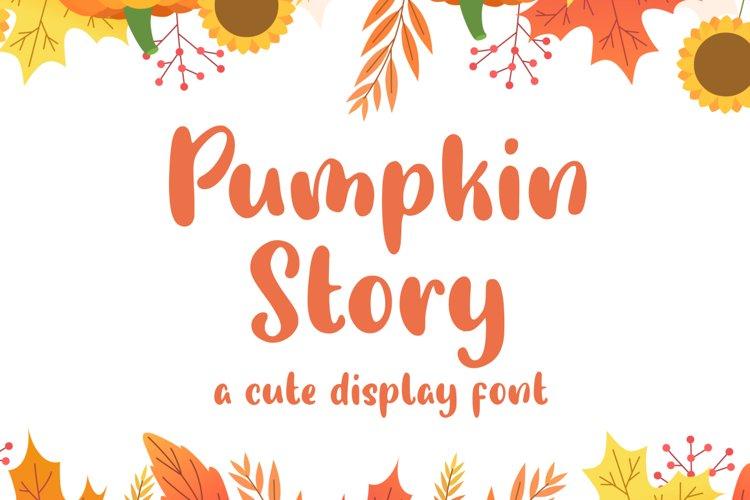 Pumpkin Story - Cute Display Font example image 1