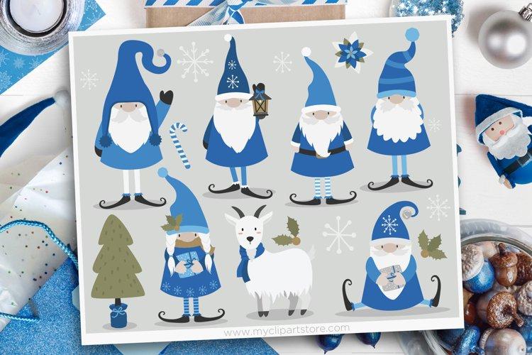 Scandinavian Winter Gnomes Clipart - Vector Clip Art & SVG