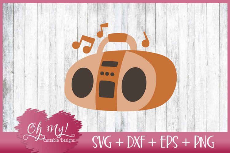 Boombox Radio - SVG DXF EPS PNG Cut File