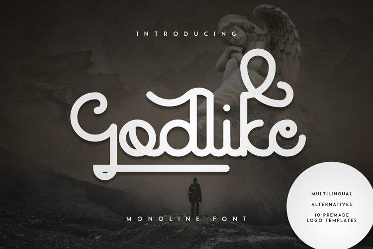 Godlike font + Logo Templates example image 1