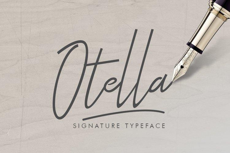 Otella Signature Font example image 1