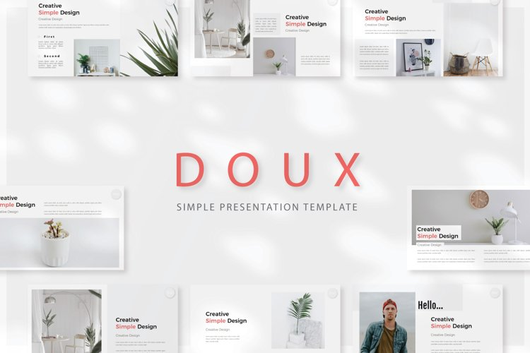 Doux Google Slide Templates example image 1