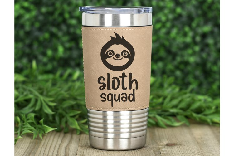 Funny svg Sloth face svg Cute animals svg Funny Sloth squad example 3