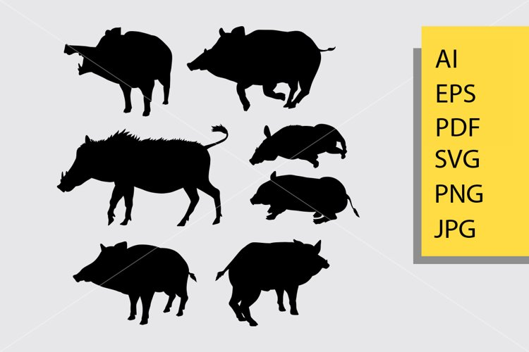Boar animal silhouette example image 1