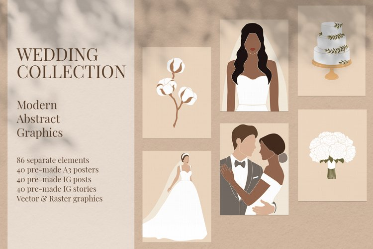 Wedding Collection. Modern Abstract Graphics. example image 1