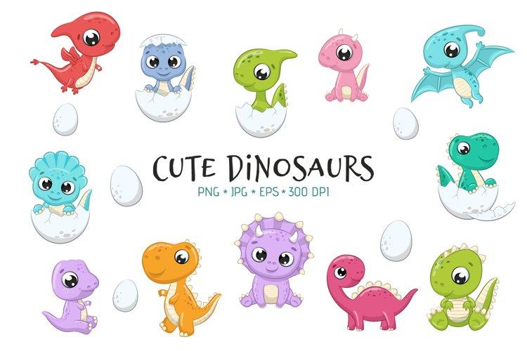 Cute Baby Dinosaurs PNG, EPS, JPG, 300 DPI