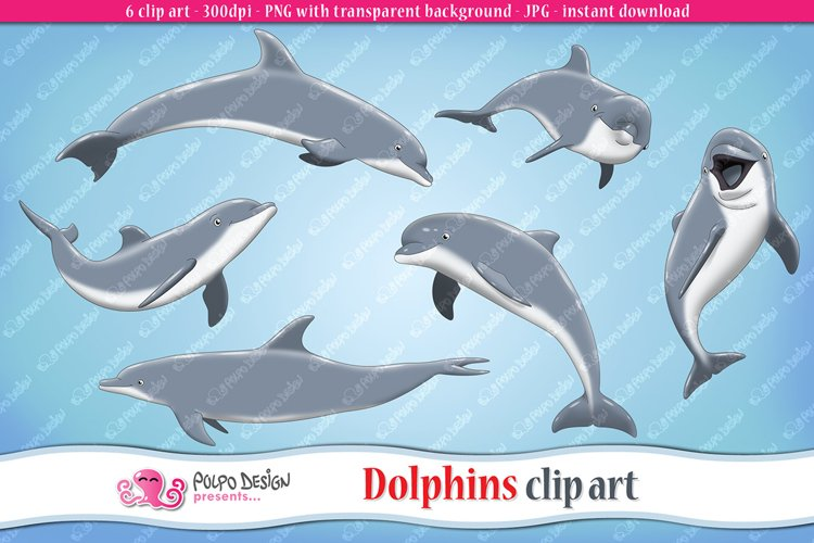 Dolphins clip art example image 1