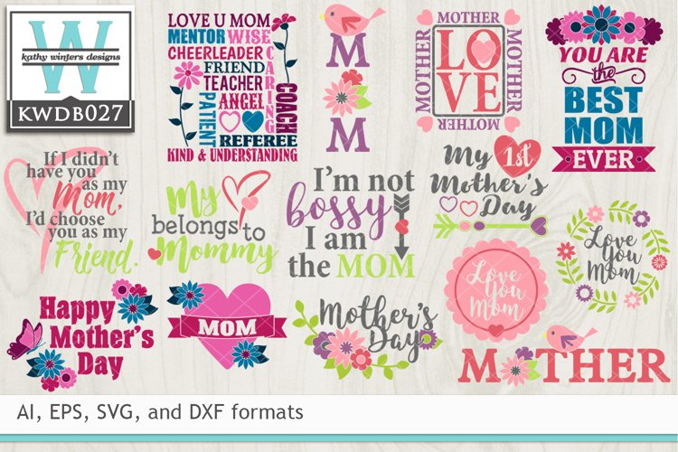 BUNDLED Mothers Cutting Files KWDB027