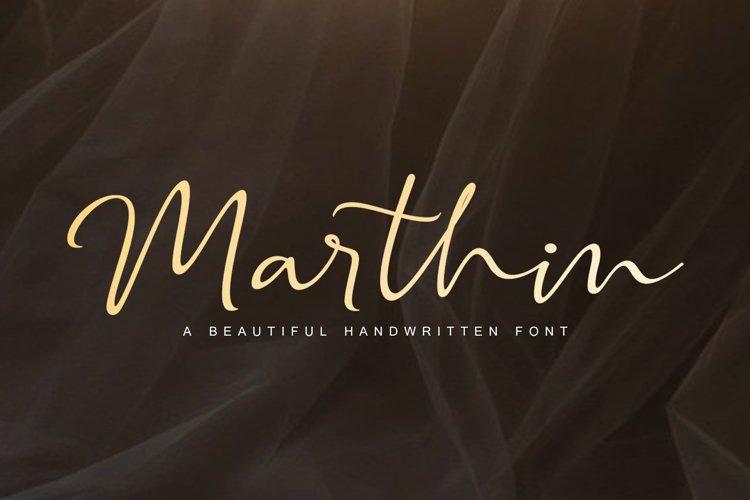 Marthin Script Font example image 1