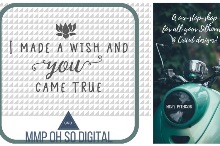 Love Quote, Wish Come True SVG, Spring SVG, True Love, Farmhouse Decor, Quote for sign, SVG file, For Silhouette, Flower Vector example image 1