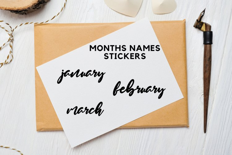 Month Stickers, Bullet Journal Stickers example image 1