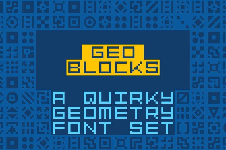GeoBlocks - a geometric font set of blocks and shapes! example image 1