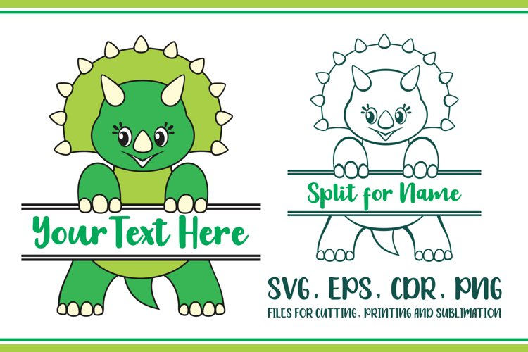 Triceratops Split for name Svg
