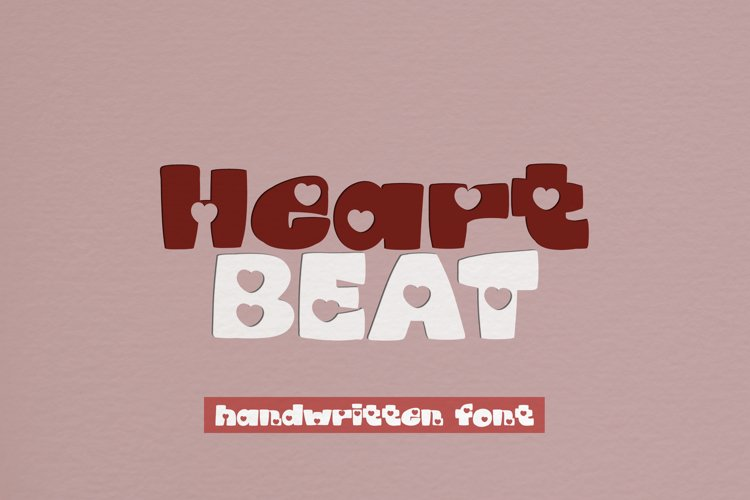 Heartbeat - A Lovely Handwritten Display Font example image 1
