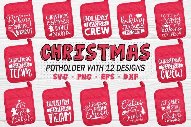 Christmas Apron Svg Bundle, Christmas Pot Holder Svg