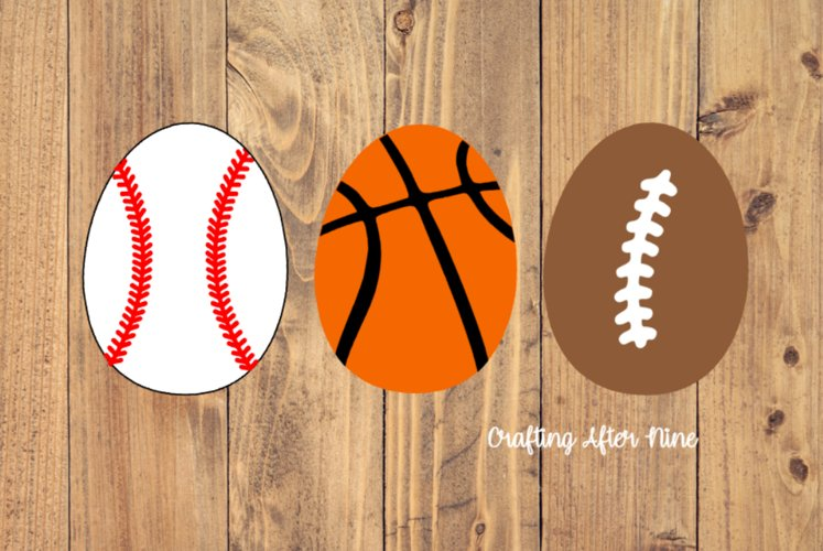 Sports Easter Egg Svg, Soccer Svg, Football Svg, Baseball example image 1