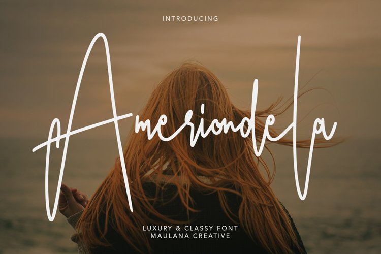 Ameriondela Luxury Classy Font example image 1