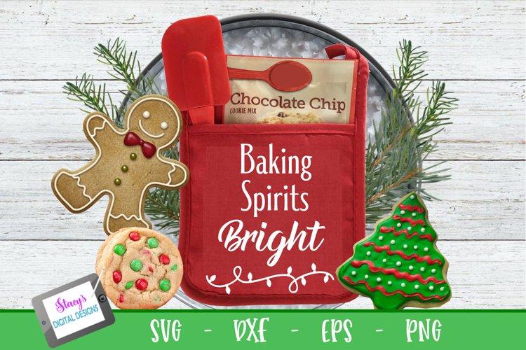 Christmas Pot Holder SVG - Baking Spirits Bright
