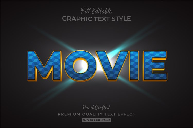 Movie 3d Text Style Effect Premium example image 1