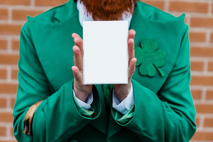 invitation St. Patrick's Day postcard template mock up example image 1