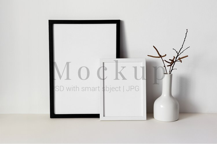 Black and White Photo Frame Mockups example