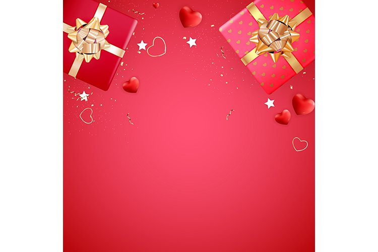 Valentine's Day Background Template Card Design example image 1