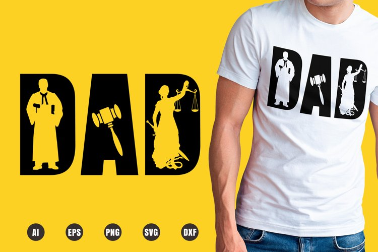 Dad Judge SVG - Father's Day Designs example image 1