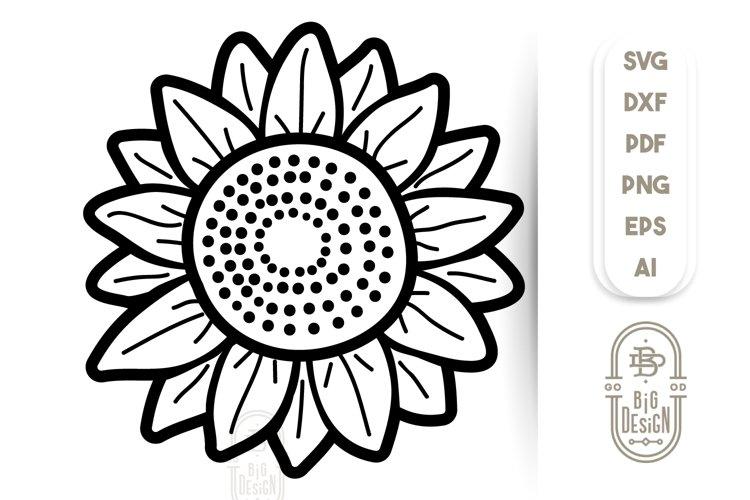 Sunflower SVG Files - Sunflower Illustration example image 1