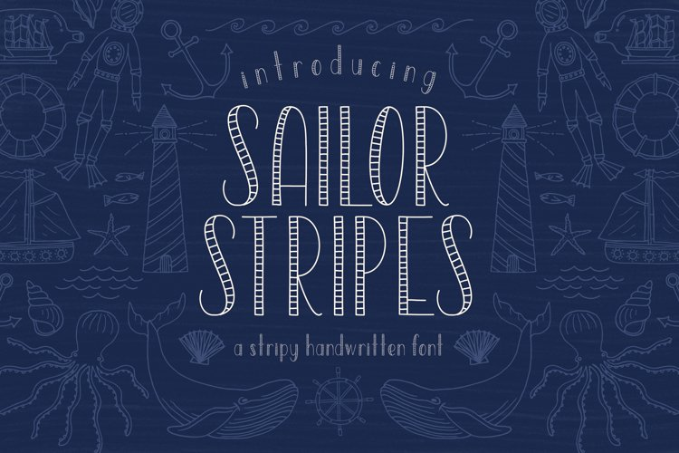 Sailor Stripes San Serif Font
