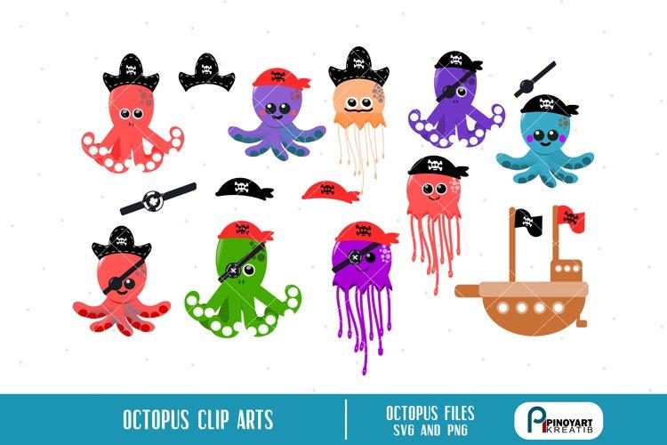 octopus clip art,jellyfish clip art,pirate clip art