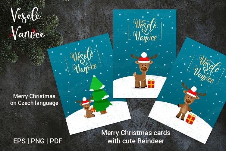 Merry Christmas in Czech language | Vesele Vanoce cards example image 1