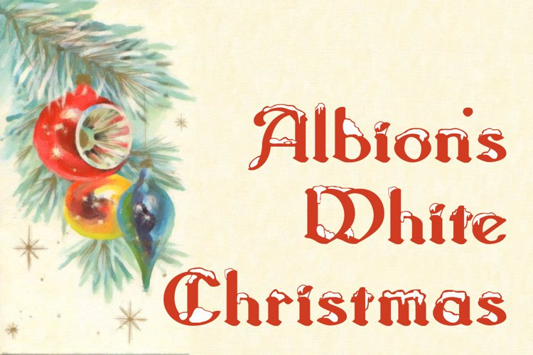 Albion's White Christmas example image 1