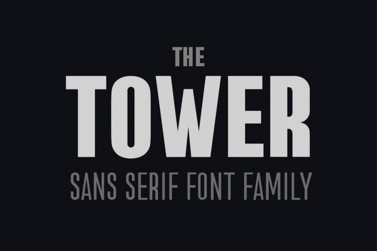 the Tower. Sans Serif font family example image 1